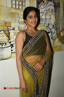 Actress Regina Stills in Green Saree at Vivaha Bhojanambu Restaurant Launch  0102.JPG