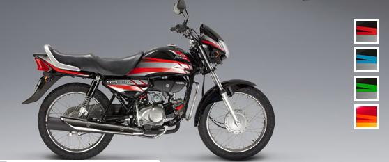 Honda Eco Deluxe: Color rojo-negro