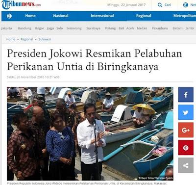 Presiden Jokowi Resmikan Pelabuhan Perikanan Untia di Biringkanaya