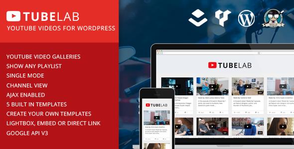 Tubelab YouTube For WordPress Plugin | WP - Wordpress Themes WP