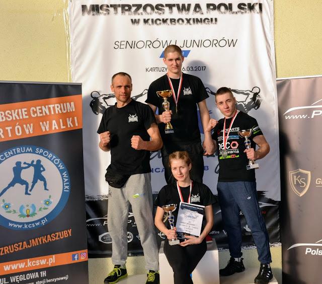 kick light, junior, senior, PZKB, kickboxing, 2017, Mistrzostwa Polski, Kartuzy, Bogumił Połoński, Maria Jackowska, Przemysław Kacieja, Piotr Paczkowski
