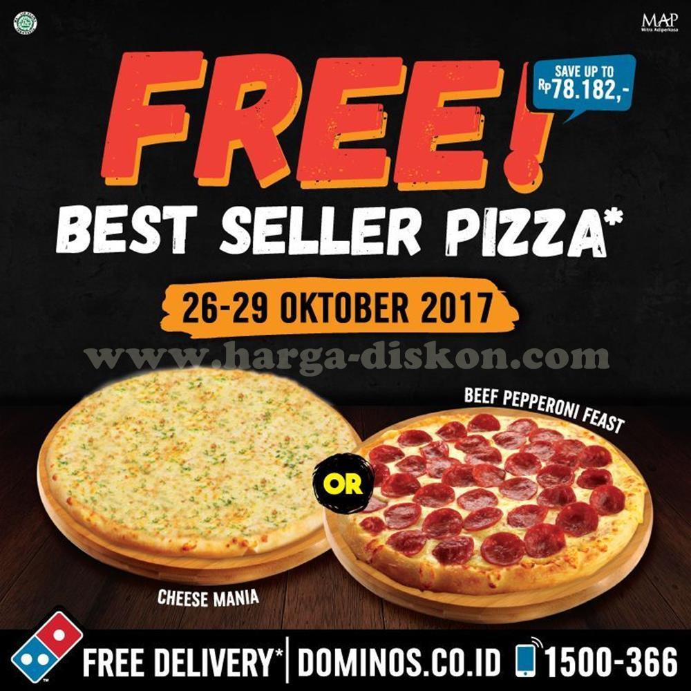 Promo Dominos Pizza Terbaru Free Best Seller Pizza Periode 26 29 Oktober 2017 Harga Diskon