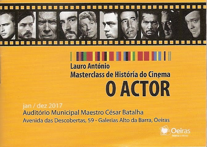 O ACTOR, Masterclass de História do Cinema