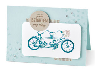 Stampin' Up! Sale-a-bration 2016 Pedal Pusher Card #stampinup #sab2016 #saleabration www.juliedavison.com