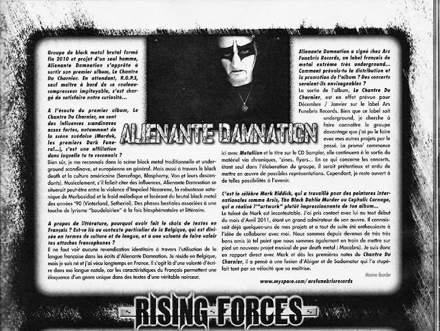 ALIENANTE DAMNATION BLACK METAL METALLIAN