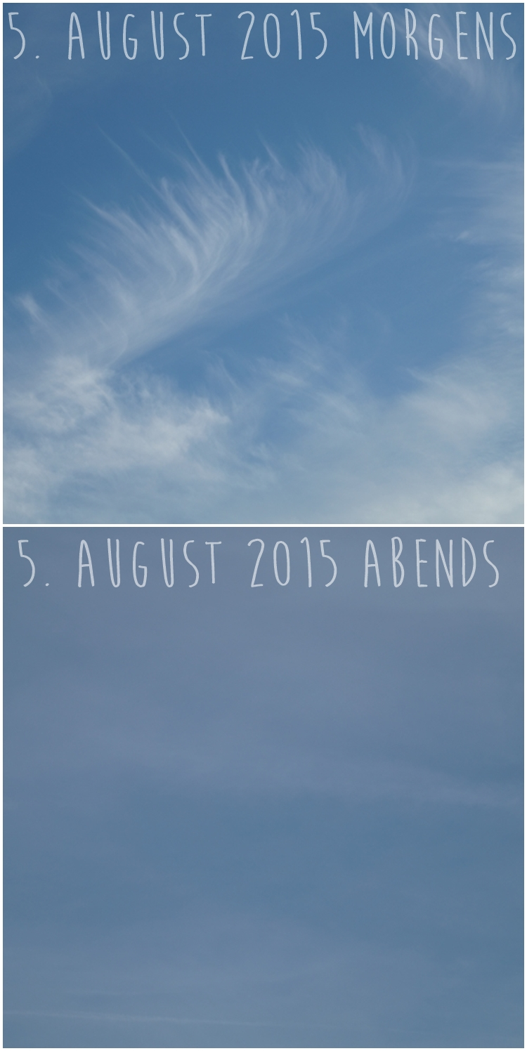 Blog & Fotografie by it's me! - Morgenhimmel und Abendhimmel am 5. August 2015