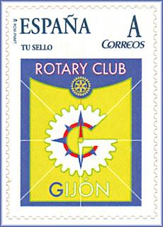 Sello personalizado del Rotary Club de Gijón