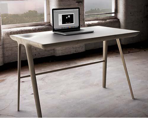 Scrivania In Legno Chiaro : La scrivania minimalista arredamento facile