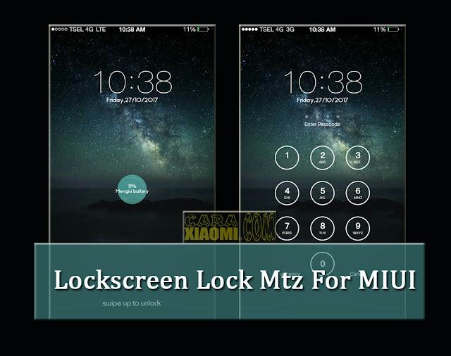 Lockscreen Clock Mtz Mod Buka Kunci Layar Sesuai Jam For MIUI