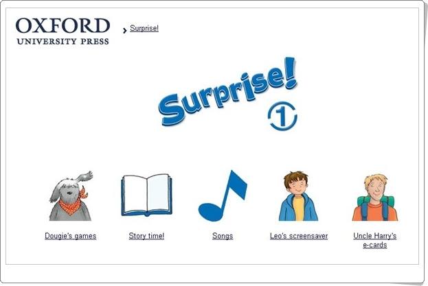 """""""Surprise!"""" Inglés de 1º Nivel de Educación Primaria. Editorial Oxford."""