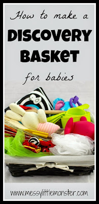 How to make a discovery basket for babies (also known as a treasure basket) A safe sensory play experience for babies
