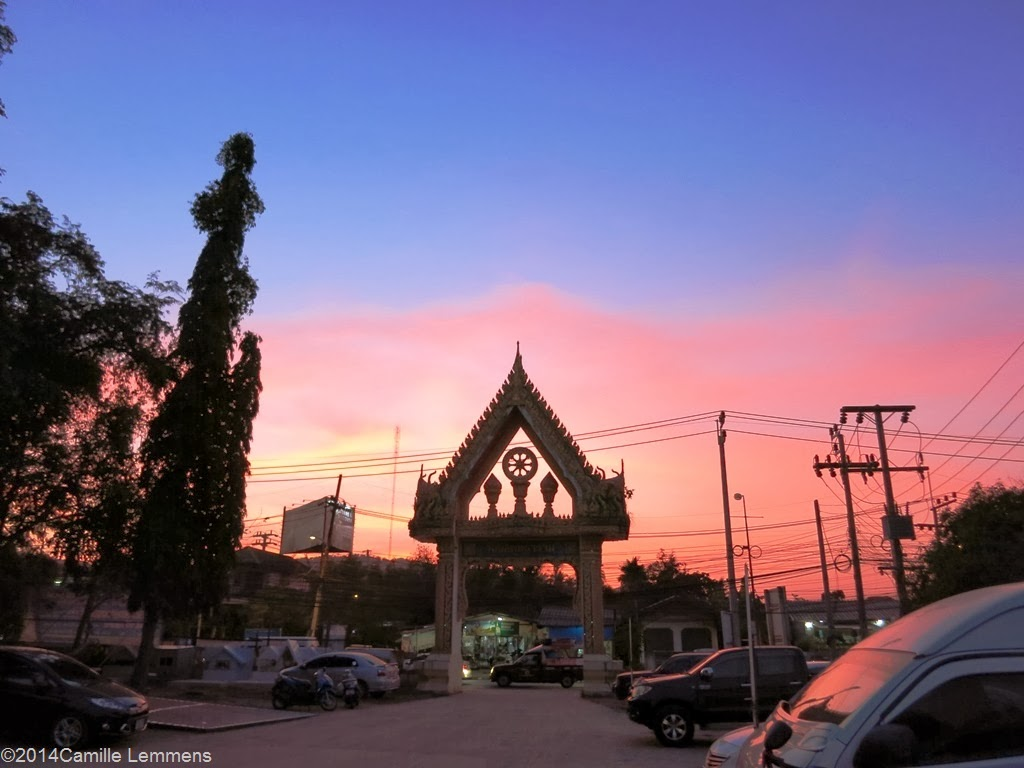 Sunset at Wat Bophud