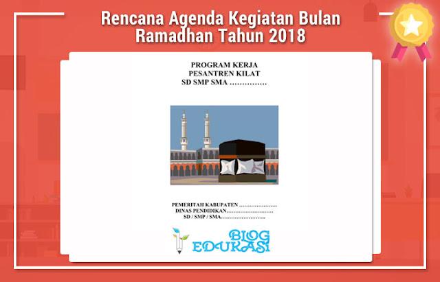 Rencana Agenda Kegiatan Bulan Ramadhan Tahun 2018