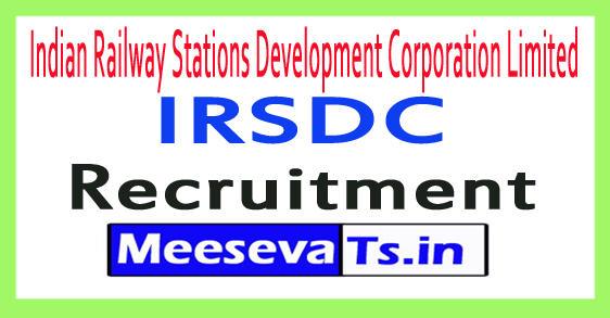 Indian Railway Stations Development Corporation Limited  IRSDC Recruitment