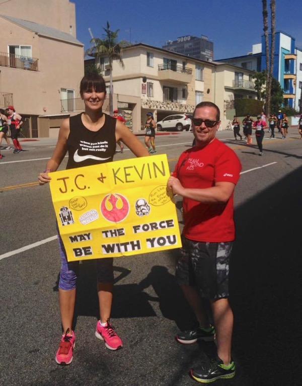 Supporting LA Marathon runners