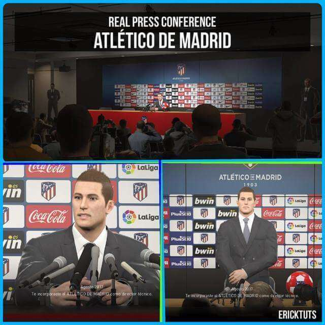 Atlético Press Conference Room PES 2018