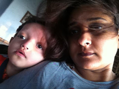 Malavika Avinash with her son Galv