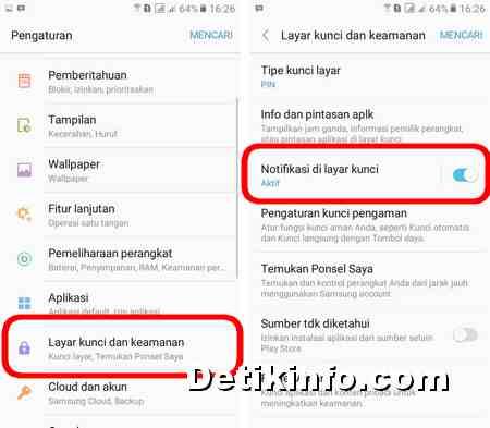 Cara Nonaktifkan Notifikasi Di Hp Samsung Saat Layar Terkunci Detik Info