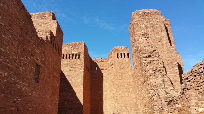 Church ruins of Quarai Salinas Pueblo Mission in Mountainair New Mexico