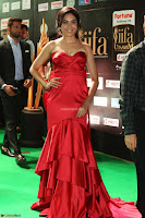Reetu Varma smiling beauty in Deep Neck Red Gown at IIFA Utsavam Awards 2017  Day 2  Exclusive 17.JPG