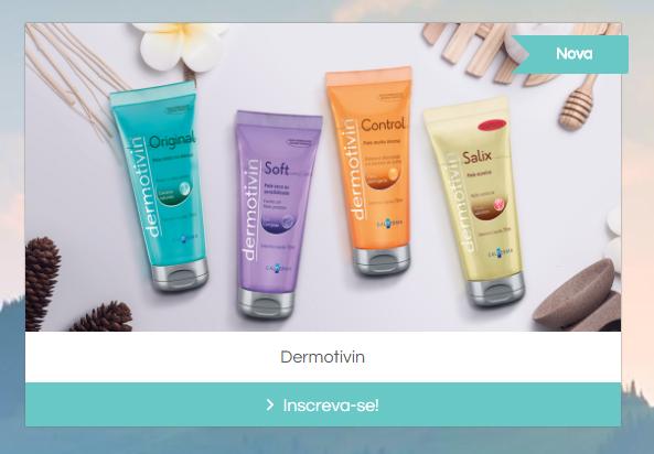 Amostras grátis de Dermotivin para peles acneicas e com tendência à acne