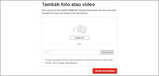 unggah video atau foto