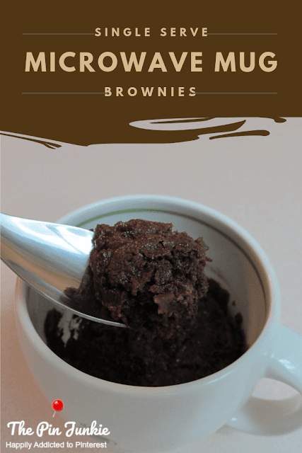 Single serve microwave mug brownies easy recipe.