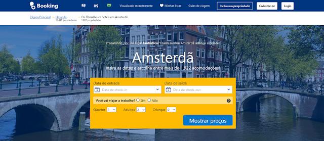 Comparador de hotéis em Amsterdã