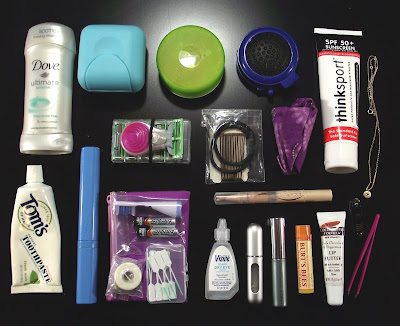 carry on travel toiletries