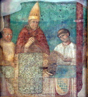 Part of the Giotto fresco commemorating the Jubilee