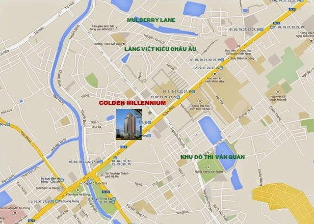 Vị trí chung cư Golden Millennium 110 Trần Phú