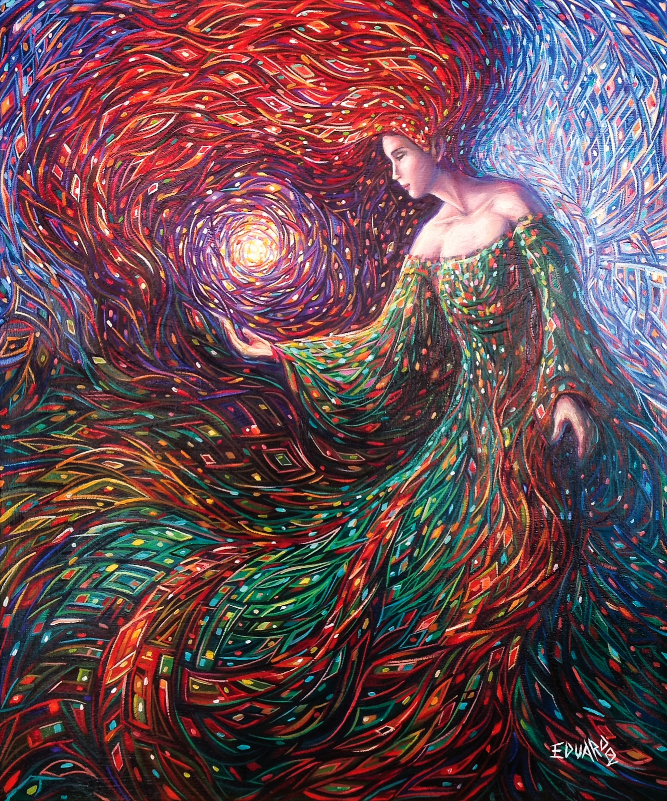 06-Manifestation-of-Light-Eduardo-R-Calzado-Paintings-in-Swirls-of-Colour-www-designstack-co