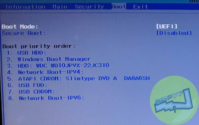 Menu Boot BIOS Atau UEFI