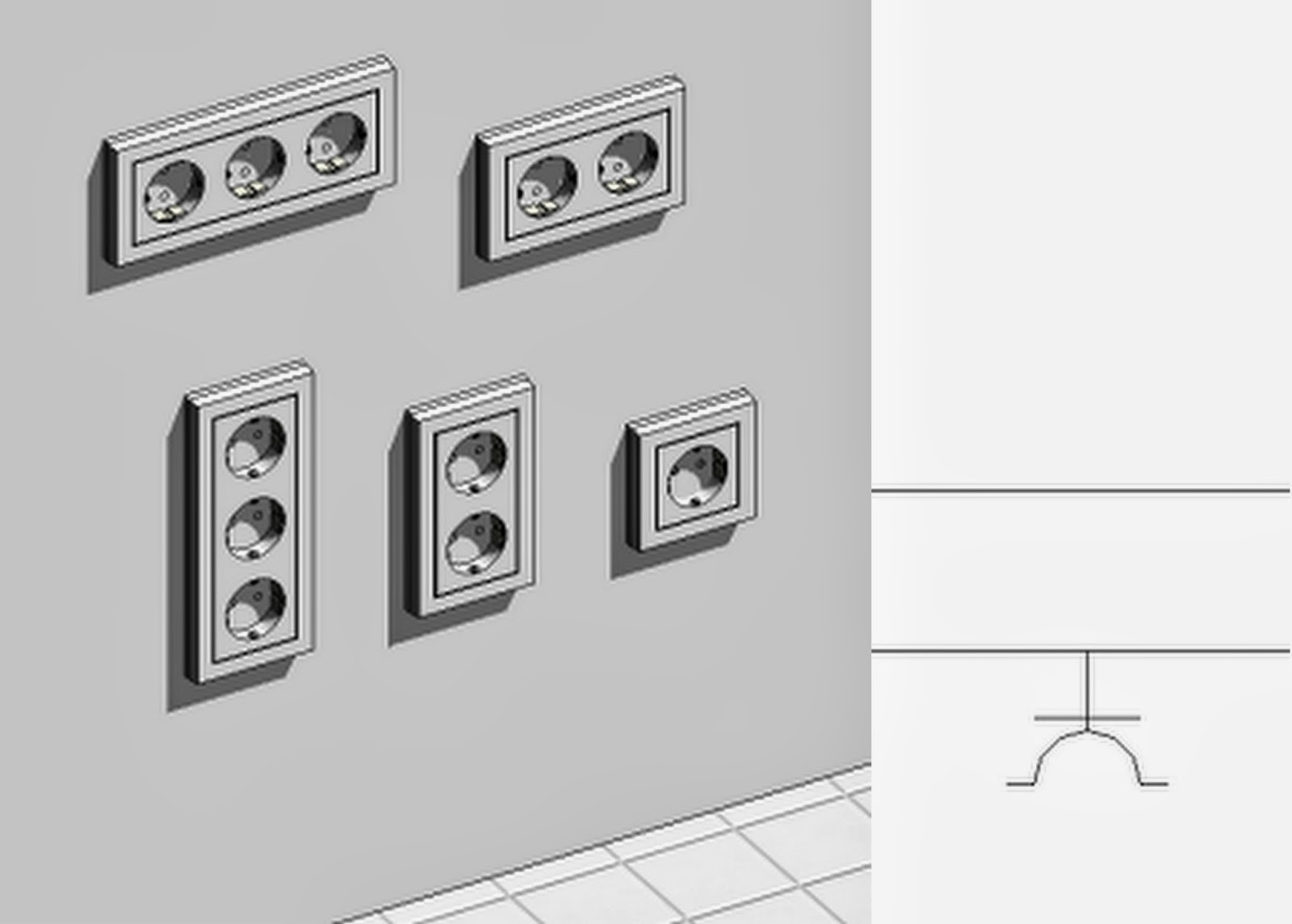 Custom Revit Families Electrical Fixtures Elementy