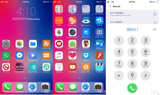 download tema iPhone X Xiaomi MIUI 8/9