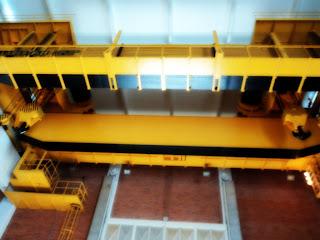 Guindaste Usado na Manutenção da Usina Hidrelétrica do Passo Real