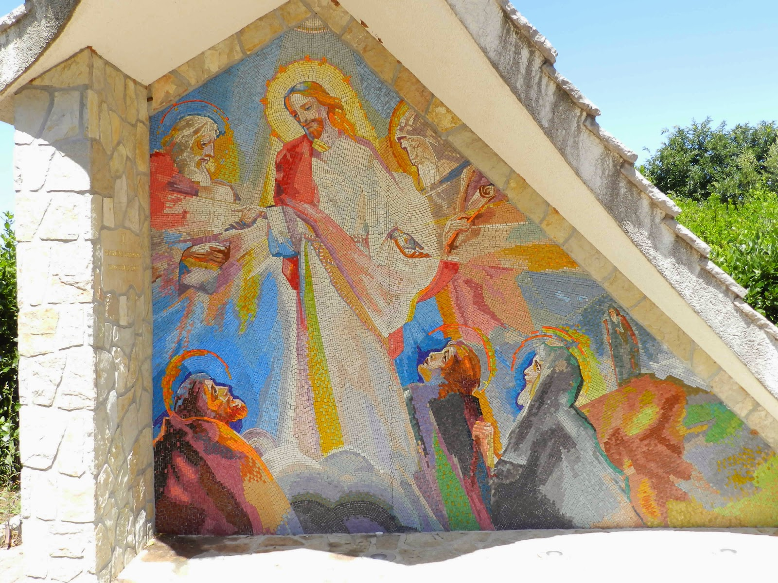 The fourth Luminous Mystery mosaic in Medjugorje, The Transfiguration