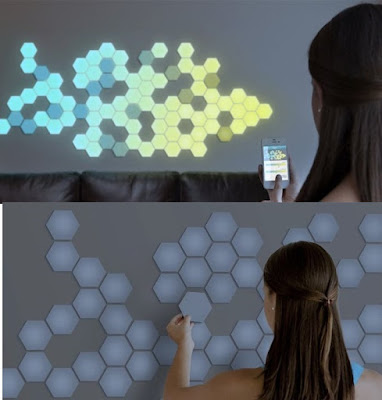 LED wallpaper with remote controlling