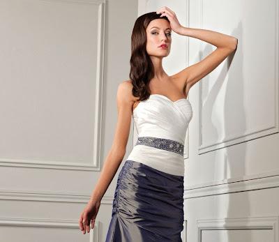 Nana Couture sposa 2014 abito bianco e nero