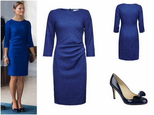 Crown Princess Victoria's  Tiger of Sweden Dress and LK Bennett Shoes