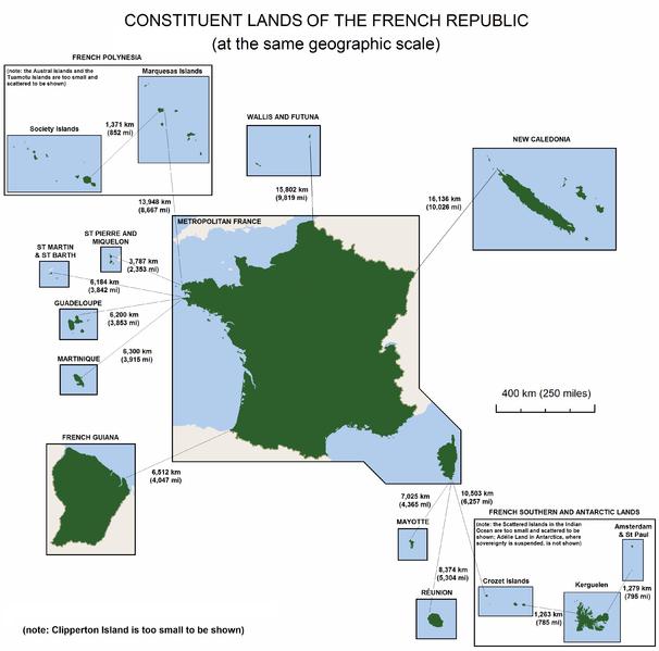 Keseluruhan wilayah Perancis