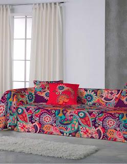 Delhi de Euromoda. Foulard de decoración