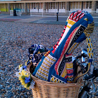 bicycle basket, Worthing seafront