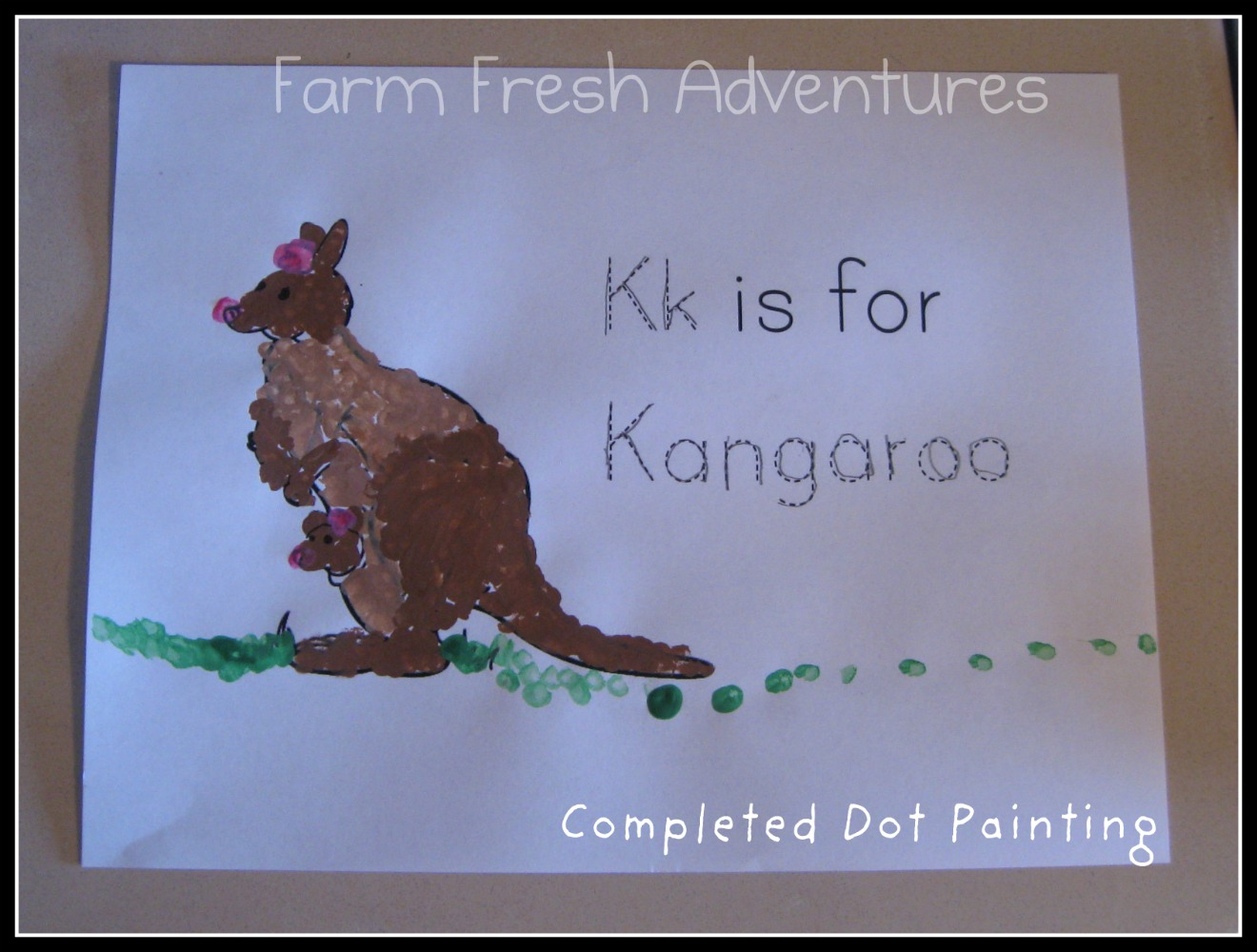 Counting Australia Kangaroo Dot To Dot Freebie