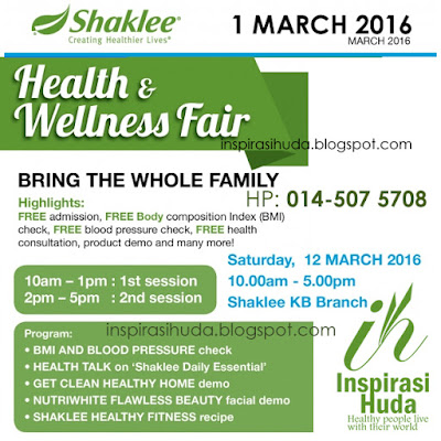 health, wellness, fair, shaklee, kota bharu