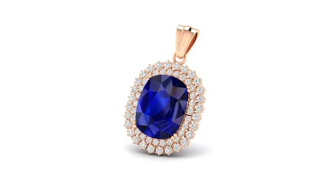 Jill Delight Blue Sapphire Pendant. Rs.1,31,492