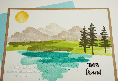 Thanks, Thank You, Friend, Occasions 2018, Scenic, Stampin' Up!, Waterfront
