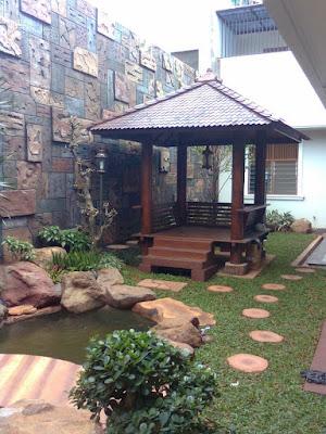Jasa Tukang Taman Tuban Gambar Gazebo saung