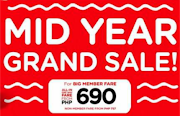 600php+ Airline Fare Mid Year Sale from CEBU-Philippines