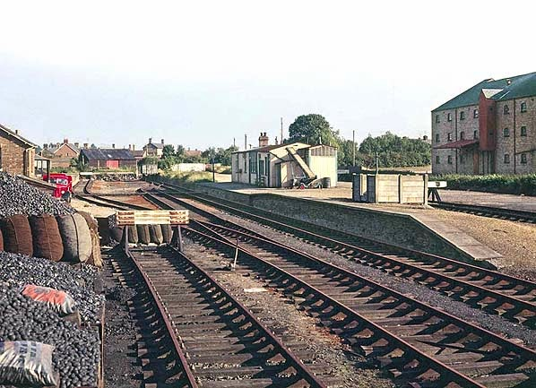 Former Ramsey North Railway Station - circa 1970  (From Disused Stations website)